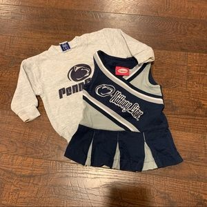 Penn State Cheerleading outfit and Sweatshirt